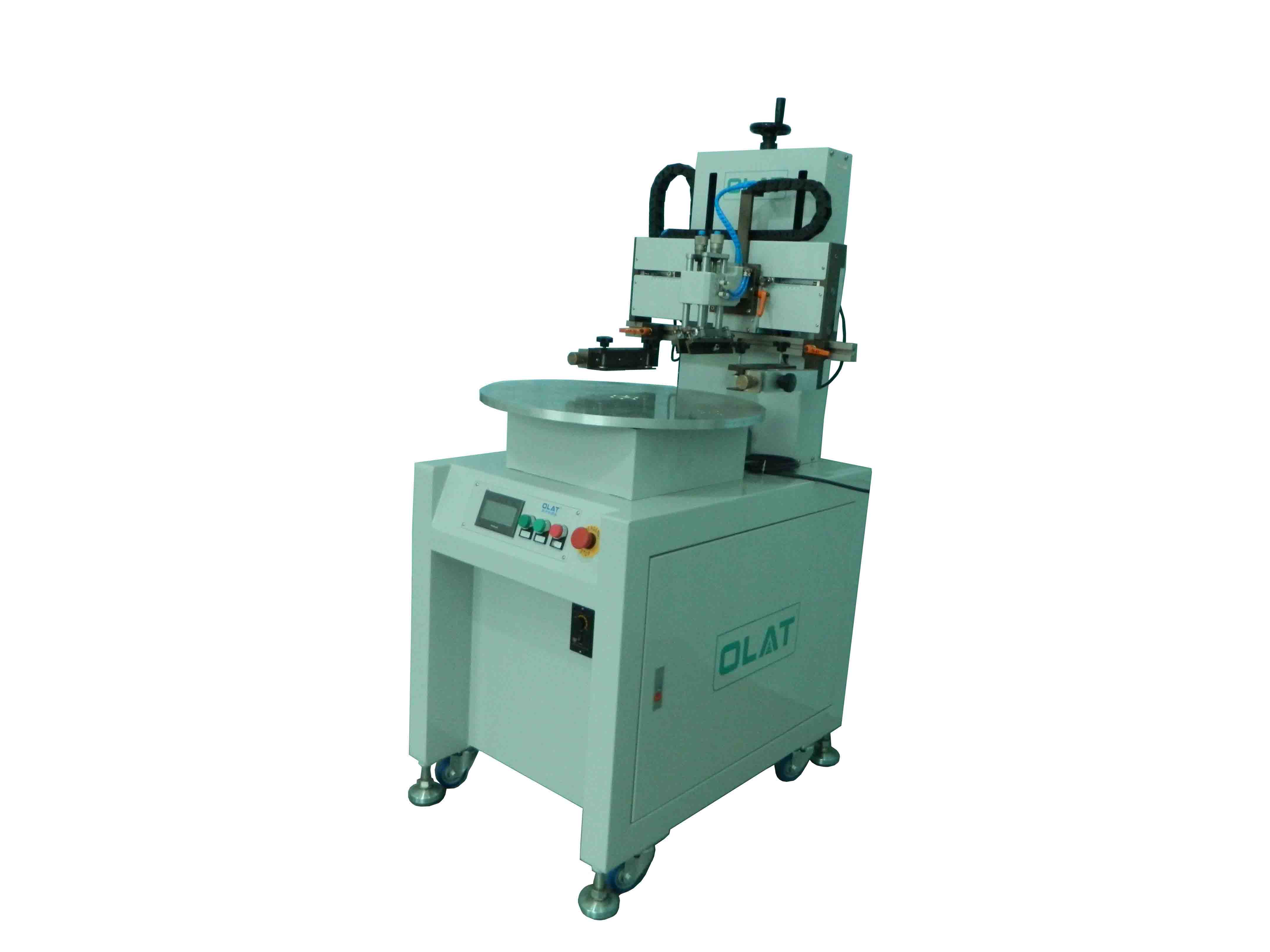Yixing customer order plane servo screen printing machine 4 location disk screen printing machine