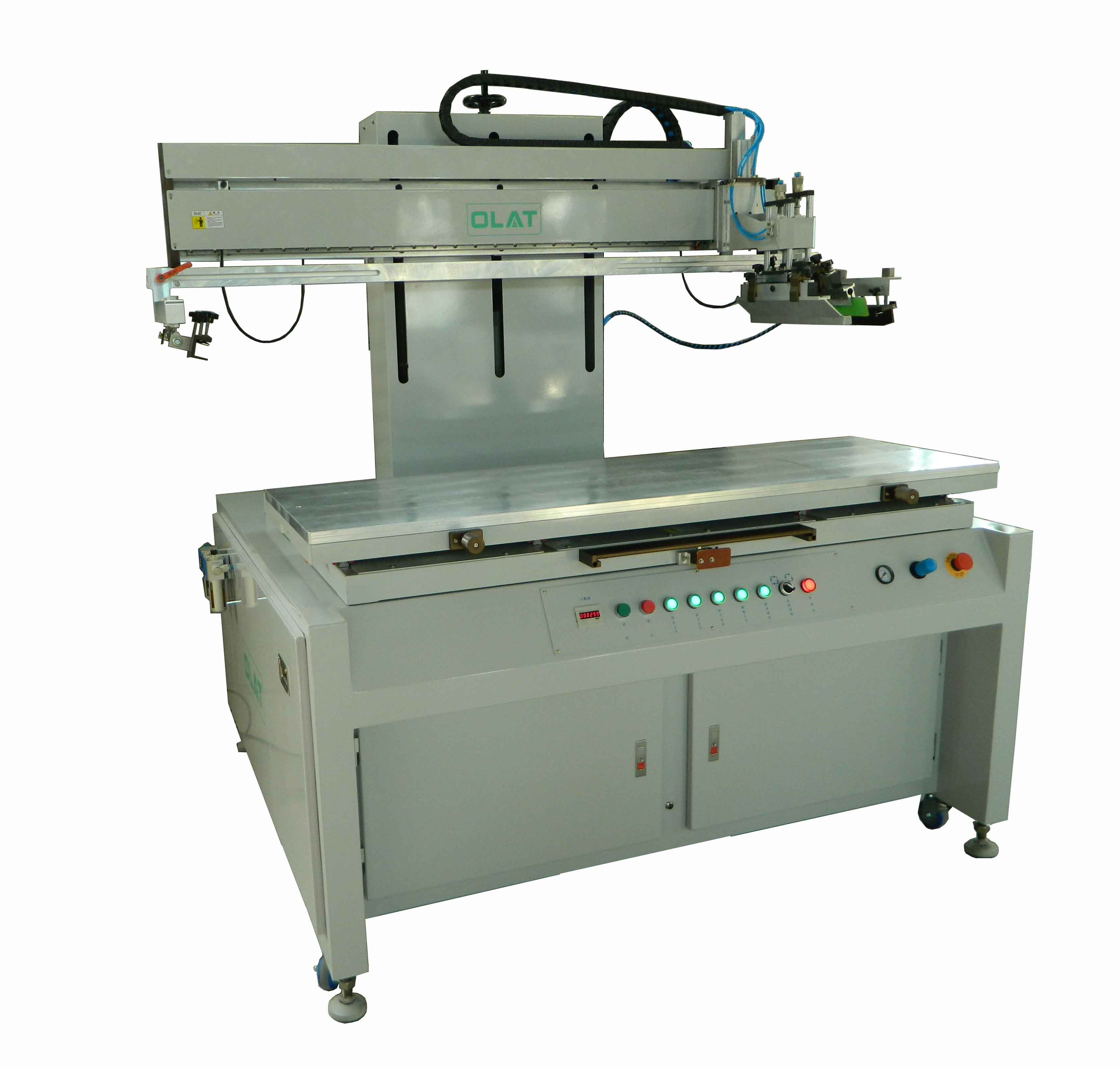 Kunshan customer order large plane ran network printing machine flat screen printing machine